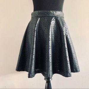 BB Dakota JACK NWT Faux Leather Skater Skirt